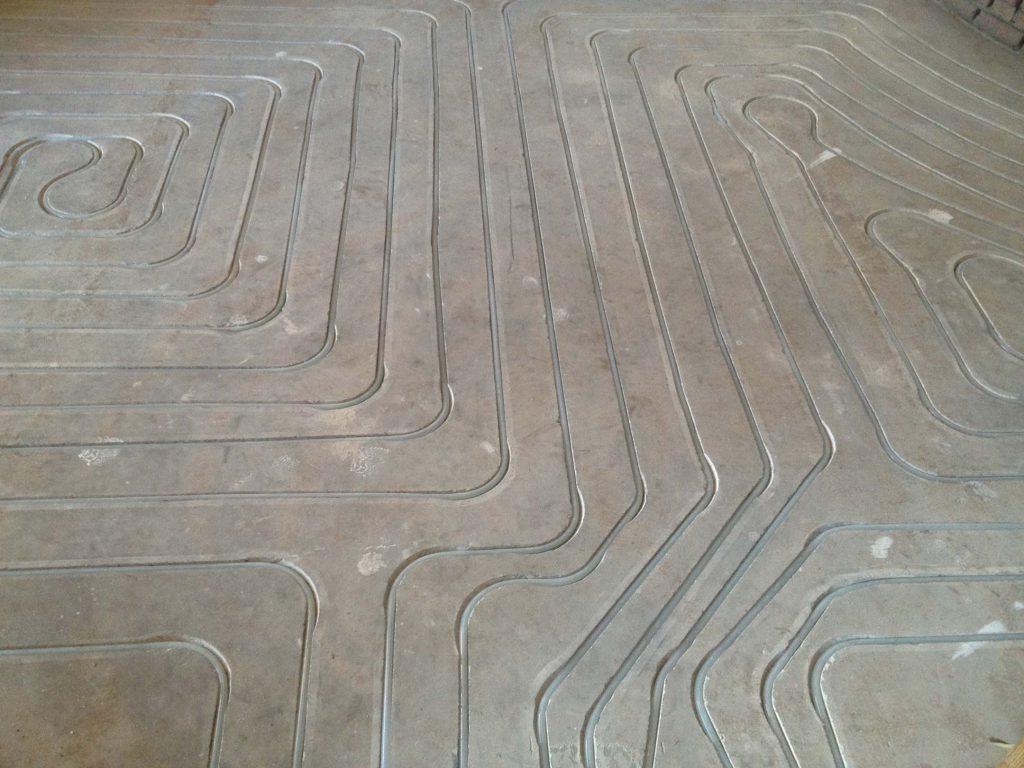 Introbodenzentrum Fußbodenheizung Muster