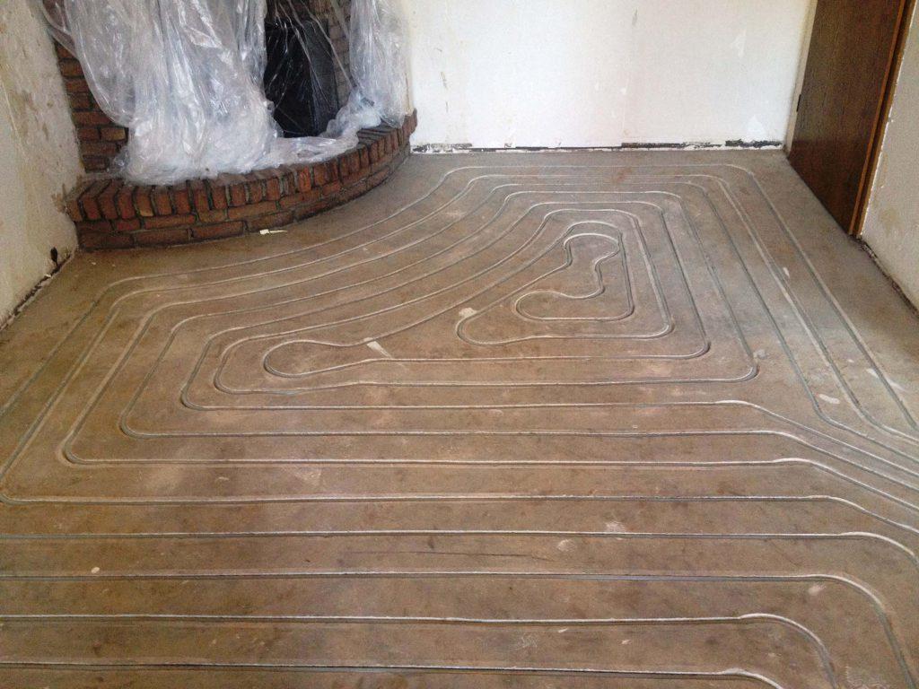 Introbodenzentrum Fußbodenheizung Vorher