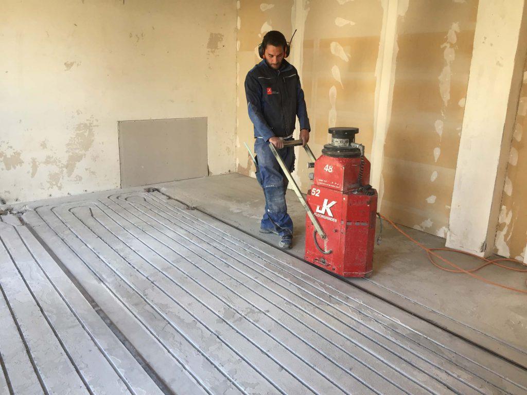 Fußbodenheizung nachrüsten Wohnzimmer