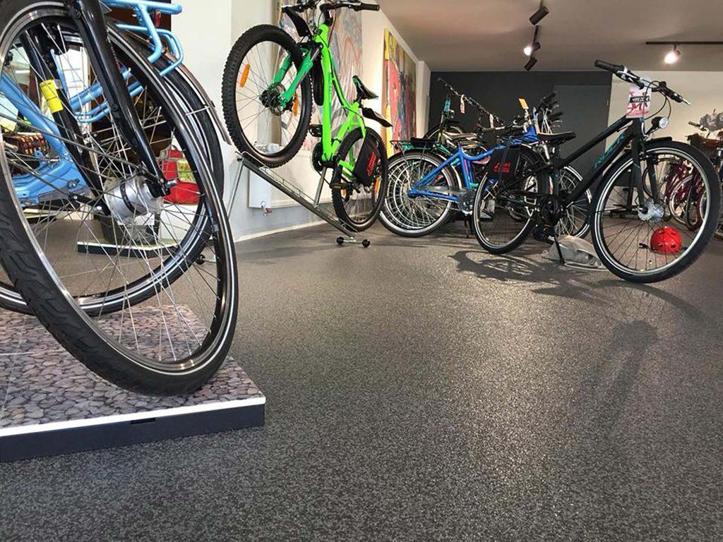 Boden Industrieboden Fahrrad