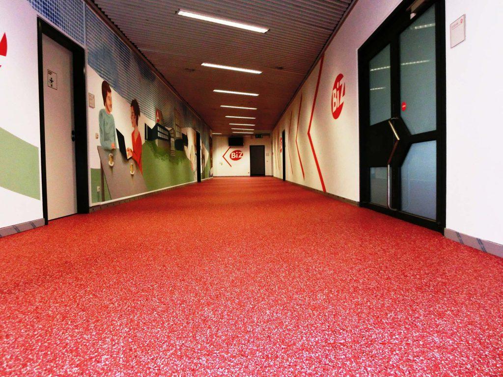 Boden Industrieboden rot